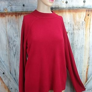NWOT KAREN SCOTT Mock Neck Acrylic Sweater